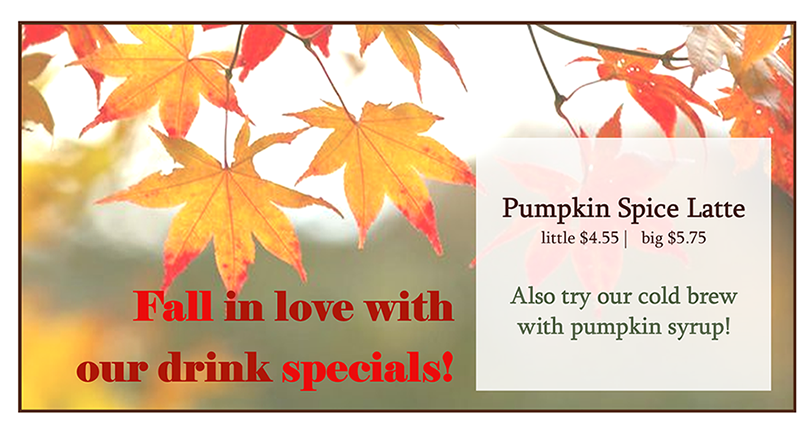 Fall Drink Special