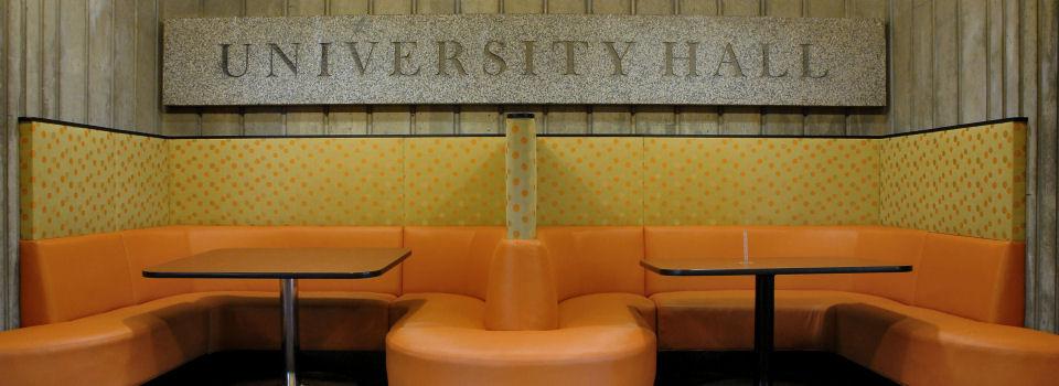 University Hall Sign at Port Center